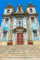 kyrkan av helgonet ildefonso i porto, portugal foto