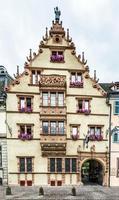 maison des tetes medeltida hus i staden Colmar foto