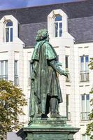 beethoven monument på munsterplatz i Bonn foto