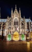 fasaden i Katedralen i Köln och all dess prakt foto