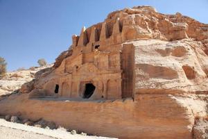 petra nabataeans huvudstad (al khazneh), Jordanien foto