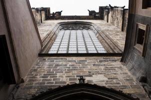 fasad på kyrkan foto