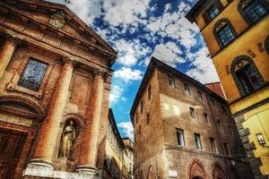 san cristoforo kyrka och historiska byggnader foto