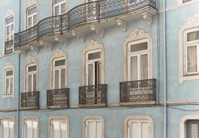typiska hus i Lissabon foto