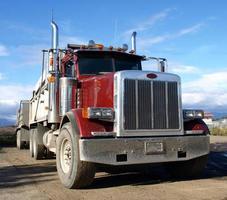 amerikansk lastbil foto