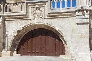 dörr i katedralen i burgos foto