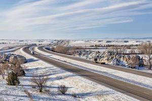 colorado motorväg på vintern