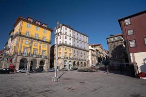 oporto (portugal) - historiskt centrum, kallad ribeira foto