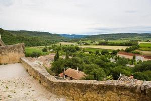 utsikt över provence bytak och landskap. foto