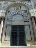 fasad av arabisk stil i Tunesien foto