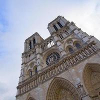 fasad av Notre Dame Paris, Frankrike foto