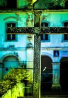 detalj av fasaden på kyrkan São francisco. foto