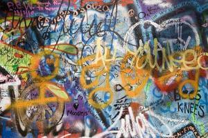 pargue - detalj från lennon väggen foto