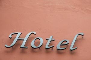 bokstäver av ett hotell foto