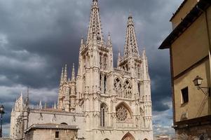 catedra, fachada rektor, burgos, castilla y leon foto