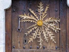 eguskilore i dörren. Izarra. alava. Spanien. foto