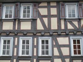 gammalt korsvirkeshus i Tyskland foto