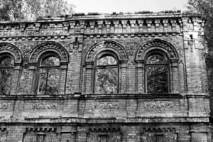 förstört gammal byggnad, Kyiv, Ukraina