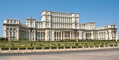 parlamentets palats, bucharest Rumänien foto