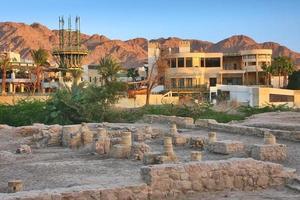 arkeologisk plats ayla i Akaba, Jordanien foto