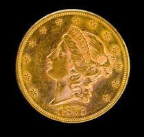 framför oss frihet tjugo dollar guldmynt foto