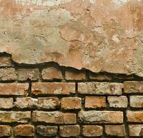 konsistens av den gamla gipsväggen