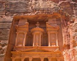 al khazneh i petra, Jordanien foto