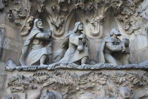 födelse av sagrada familia templet, barcelona, katalonien, Spanien foto