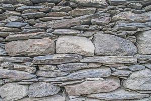 bakgrund. vägg monterad av stenar foto