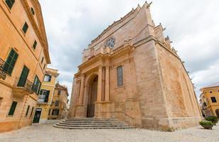 ciutadella menorca katedral på ciudadela baleariska öar foto