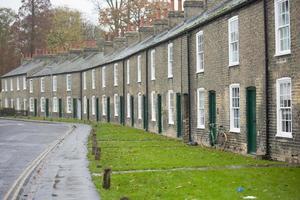 Cambridge gregorian town hus foto