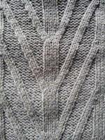 stickning ull textur grå bakgrund foto
