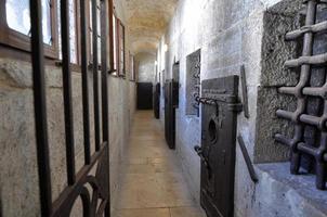 venice - medeltida presession låst dörr foto