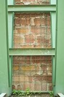 textura pared y vigas de hierro foto