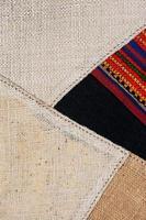 färgrik thailändsk peruansk stilmatta på nära håll.