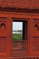 agra fort: röd sandsten dekoration foto