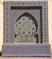 orientalisk mosaik i Marocko foto