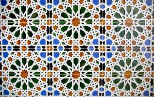 detalj av mosaikgolv