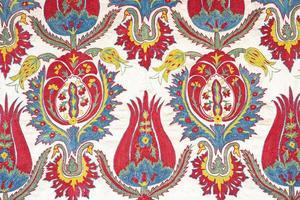 gammal färgglad arabisk mattappning