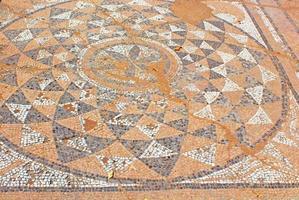 forntida grekisk mocaic i palaestra av Dion, Pieria, Grekland