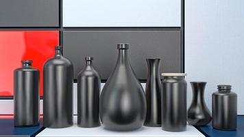 svarta flaskor