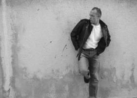 50-talets rockabilly pose foto