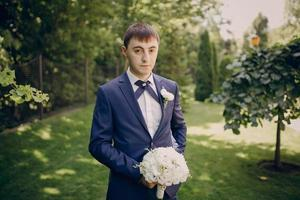 bröllop solsken dag foto