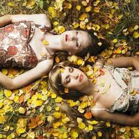 två romantiska tjejer foto