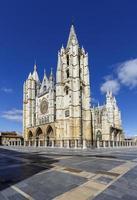 katedralen i leon, spanien foto