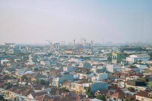 Flygfoto över staden