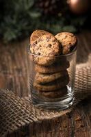 Chocolate chip cookies foto