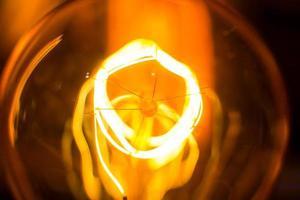 spiral glödtråd lampa gängor vertikala makro