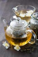 grönt te med jasmin foto