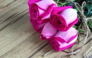 bukett rosor foto